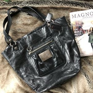 Black Shoulder Coach Purse